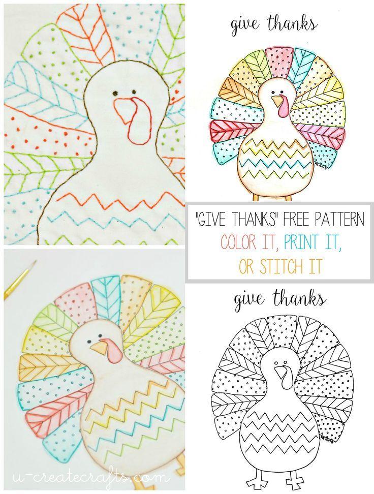 Fall Turkey Printable by U Create