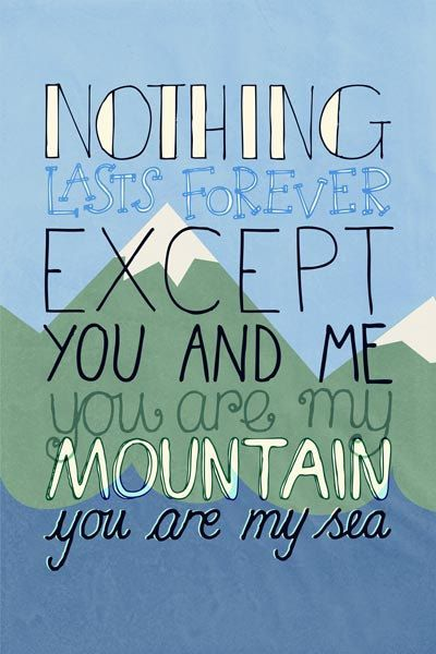 Mountains by Biffy Clyro 4x6 Inch Matte Photographic by LyricADay, £1.00