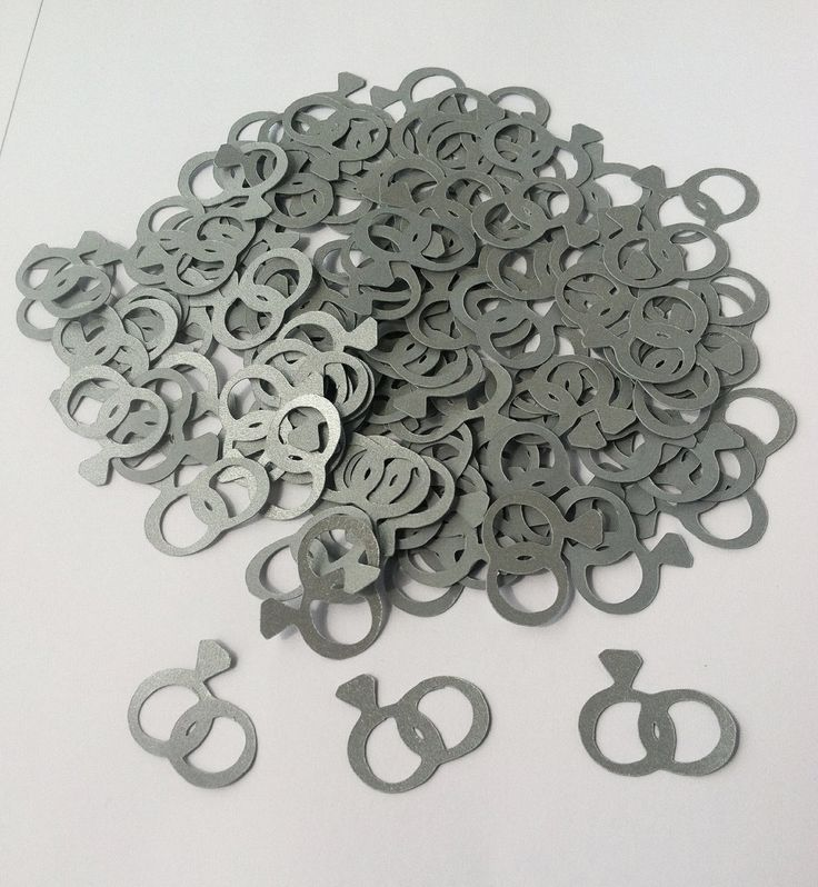 Attractive Cricut Wedding Ring Confetti 120 Pieces By CannonCraftsbySarah, $2.75