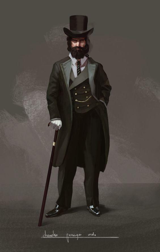 Victorian Gentleman , Mateusz Michalski on ArtStation at https://www.artstation.com/artwork/wPma5: