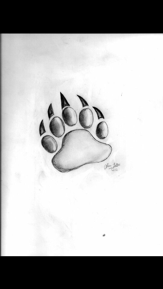 Bear Paw Tattoo (I'd put it over my heart)