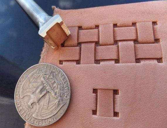 013-19 Quadratic Basket Leather stamp homemade Custom Saddlery Tool