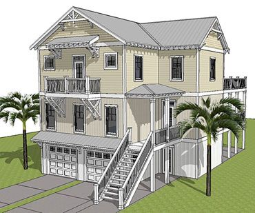 17 best images about coastal house plans on pinterest for Beach house plans with elevator