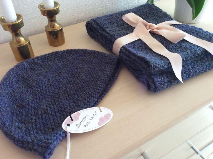 Crochet hat and scarf / Hæklet hue og tørklæde
