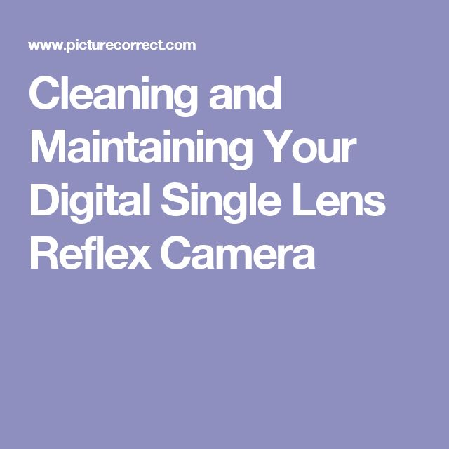 Cleaning and Maintaining Your Digital Single Lens Reflex Camera