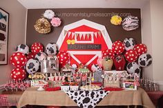 Farm Theme Birthday Party Girl Toddler 2 32 food table