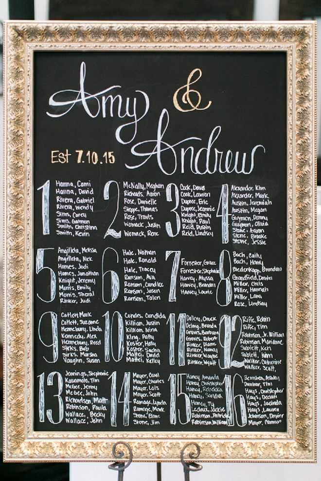 How gorgeous is this DIY wedding seating chart? Love!