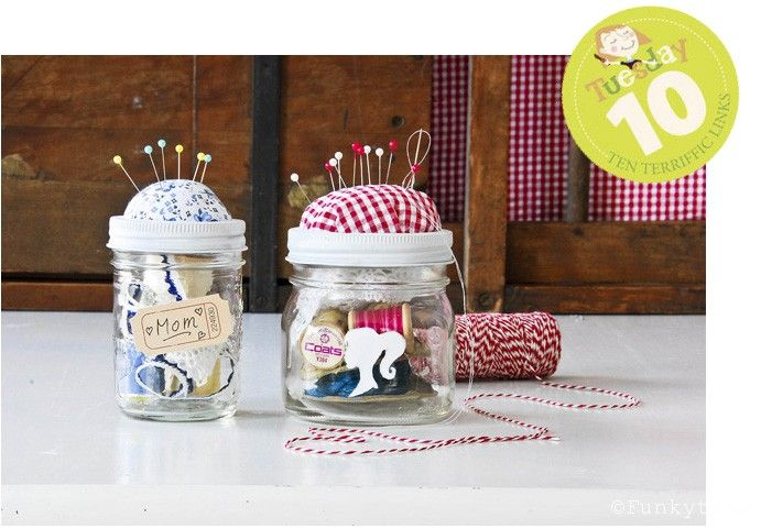Painted Suitcase Ideas | ... presents for mum: sewing kit in a jar - crafts ideas - crafts for kids