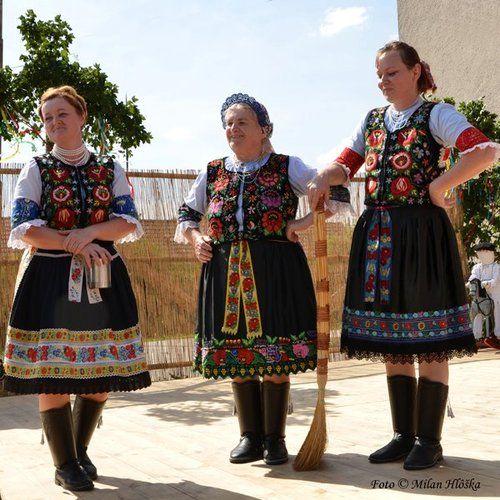 Slovac Folk Costumes - Jarok village, Pontrie region, Western Slovakia