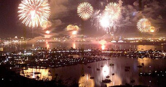 San Diego's 4th of July Big Bay Boom - the largest fireworks display in San Diego county.