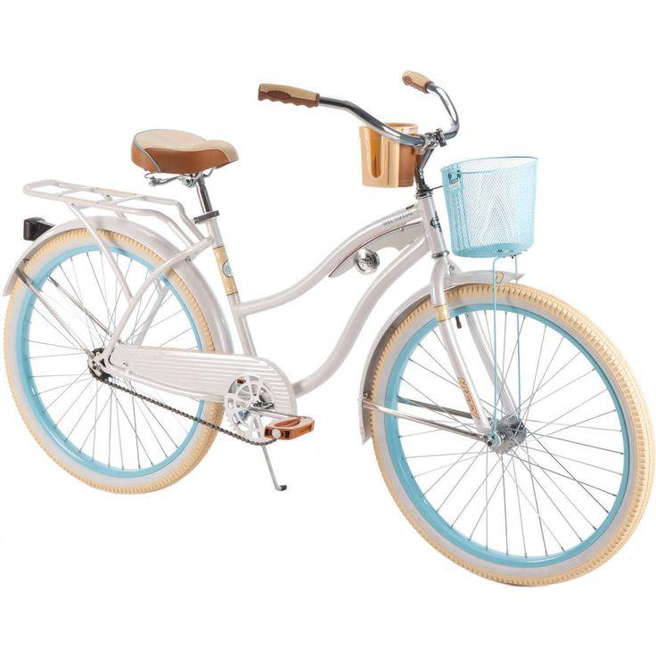 "Womens Cruiser Bike 26"" Beach Bicycle Vintage Single Speed Basket Rack Huffy #Huffy"