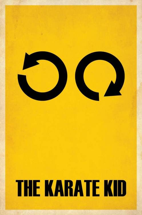 Karate Kid, movie, poster, minimalism