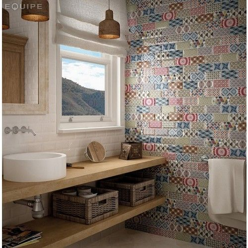 ceramic jumble patchwork metro tiles from the geometro tiles range by envy