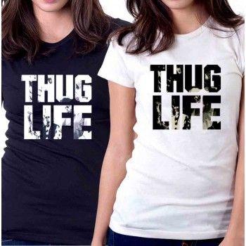New Tee T-Shirt *Thug Life Tupac Shakur Sakur 2Pac Album Womens Ladies S To 2XL