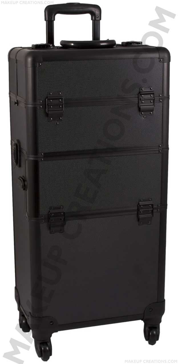Aluminum Trolley Makeup Case with Drawers - Black Crocodile - $194.00    #Beauty #Makeup #MakeupArtist