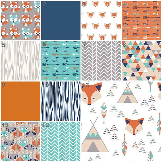 Woodland Crib Bedding Fox Nursery Bedding Orange by modifiedtot