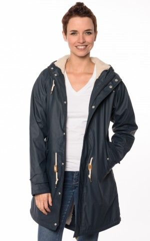 Derbe Cozy Travel Friese Navy Blau Regenjacke #geffütert #herbst #friesennerz