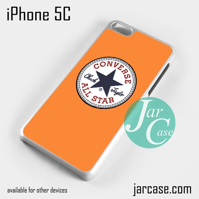 orange converse Phone case for iPhone 5C and other iPhone devices