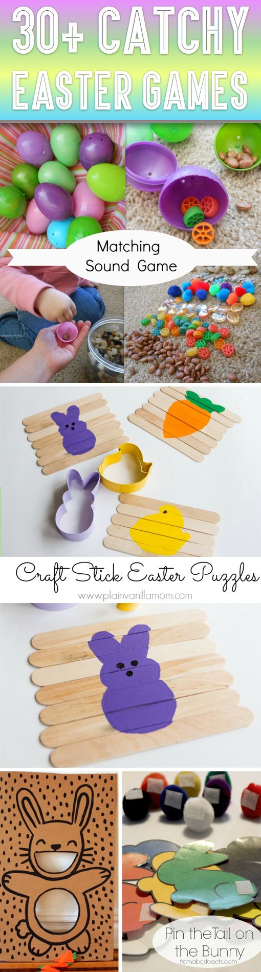 """30+ Catchy Easter Games To Try With Your Kids This Year! - Here you will find a compilation of 30 catchy, creative and entertaining Easter games that you must definitely put on your """"To Try"""" list!"""