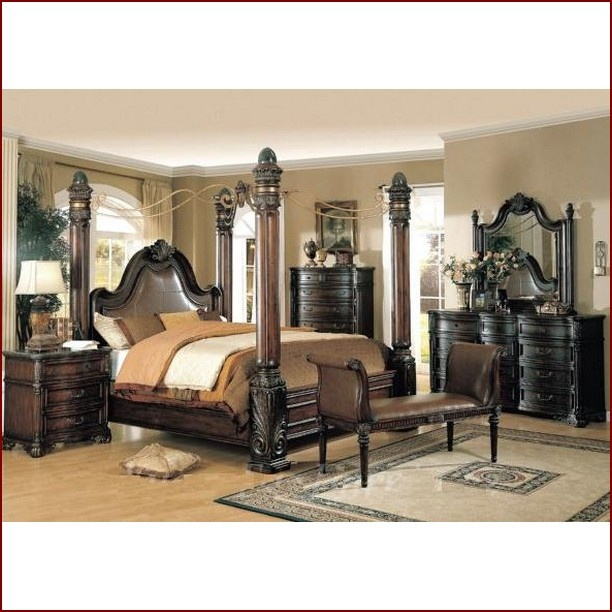 Wildon Home Fabiana Poster Bedroom Set In Cappuccino