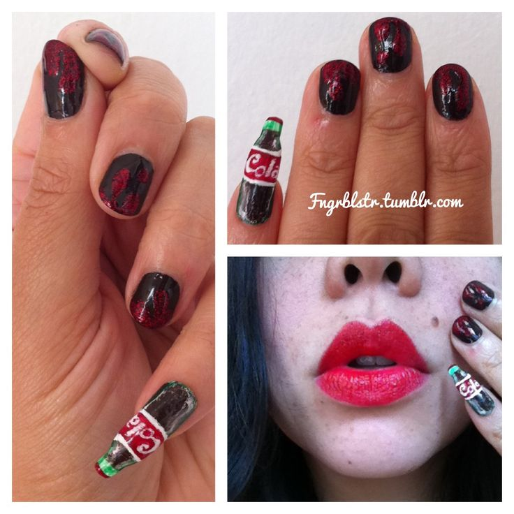 33 best coca cola nails images on pinterest hairstyles beauty coke nail nail art manicure essie brooklyn manicurist nail artist prinsesfo Gallery