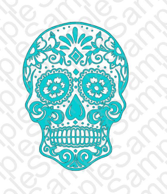 Sugar Skull 1 Svg And Dxf Cut Files By Brocksplayhouse On