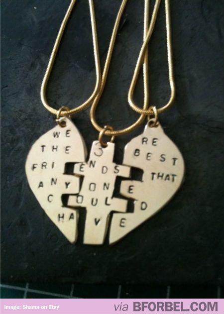 3 way best friend necklace $42 @Heather Harris Kay @Erin Leonard