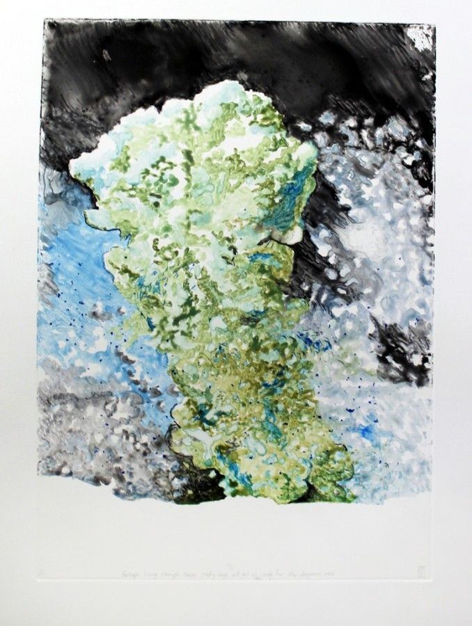 Penn-Perhaps Living through these Pretty Days will get us Ready for the Dangerous Ones 2011-Monotype with Water-Soluble Crayon-LR – DAVID KRUT PROJECTS