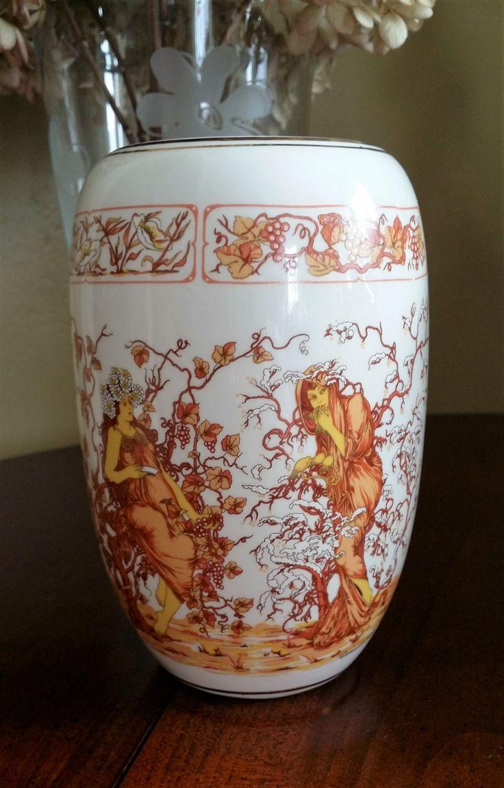 Rare V. Carraresi Calenzano Firenze Italy Porcelain Vase 1950s by BlingAndBlueJeans on Etsy