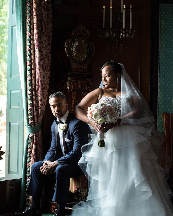 How glamorous is Jolie and Guillermo?  #couplegoals - Photography: @tismanphoto /// Wedding and Reception Location: The Manor West Orange New Jersey  Event Planner & Creative Director: @jennyorsini  Wedding Dress Designer: @pninatornai  Kleinfeld Bridal