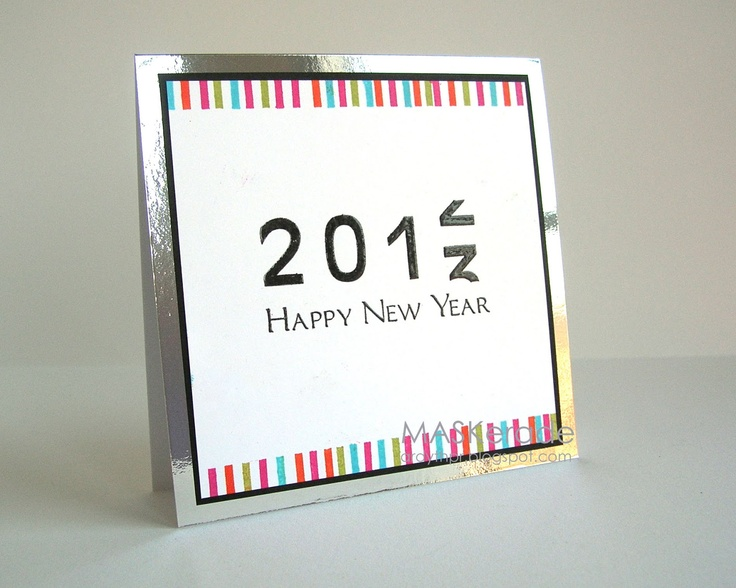 MASKerade: what a great New Year's card from Ardyth's creative mind