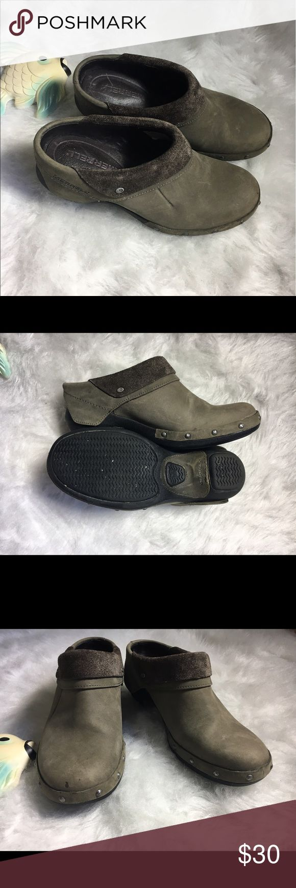 Merrell Drizzle Mule Clog Luxewrap Size 6 Great condition Merrell mule clogs. Luce wrap style. Next to no wear. Brown/grey color. Size 6. Merrell Shoes Mules & Clogs