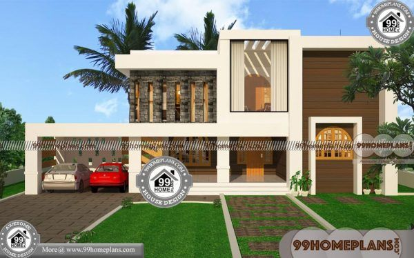 Front View House Plans 45 Contemporary Style Kerala Homes Designs Kerala House Design House Plans House Design