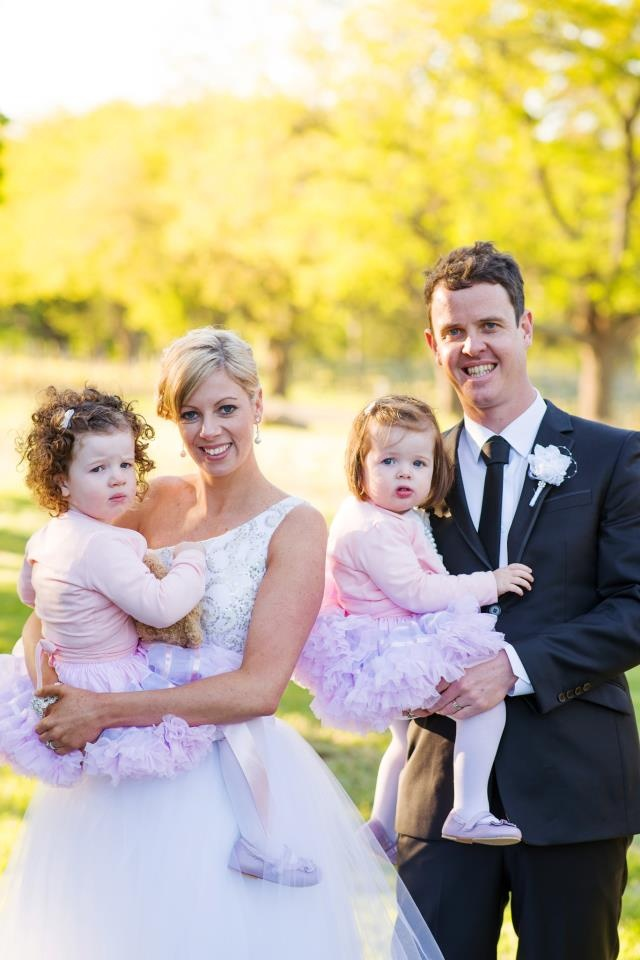 My beautiful family on our wedding day