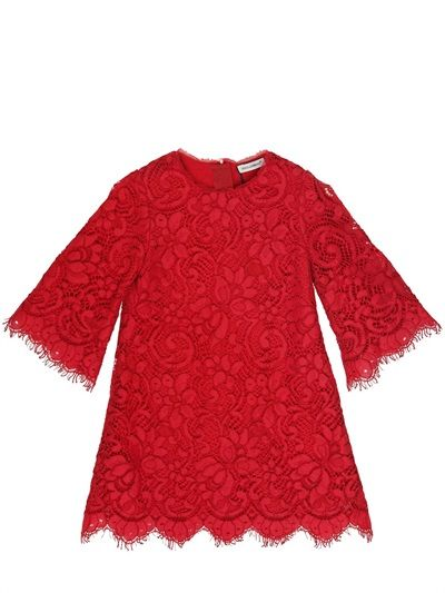 DOLCE & GABBANA - MONREALE LACE DRESS - LUISAVIAROMA - LUXURY SHOPPING WORLDWIDE SHIPPING - FLORENCE