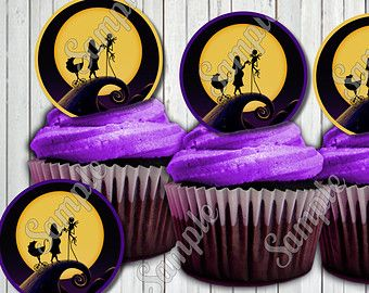 Charming Nightmare Before Christmas BABY SHOWER Cupcake Toppers Other Party Supplies  Sold Seperately