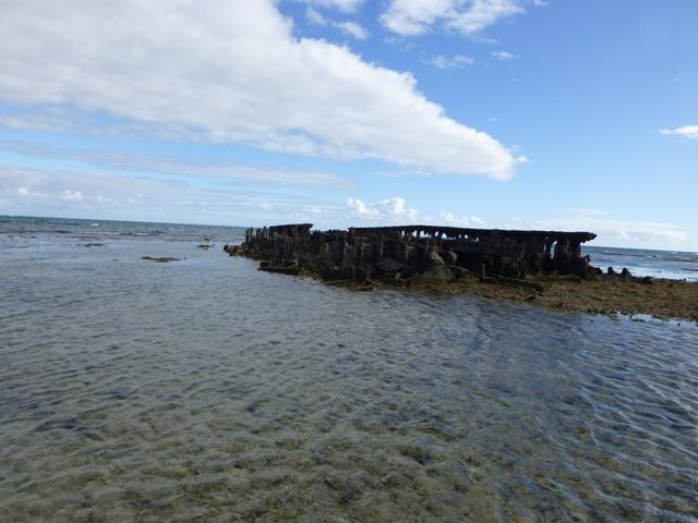 Barge échouée sur la plage de Nouville