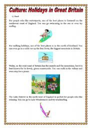 English Worksheets: Holidays in Great Britain