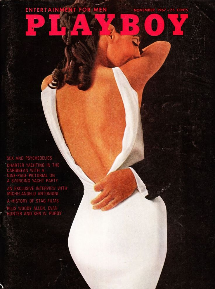 Vintage 1960s Playboy cover from 1967