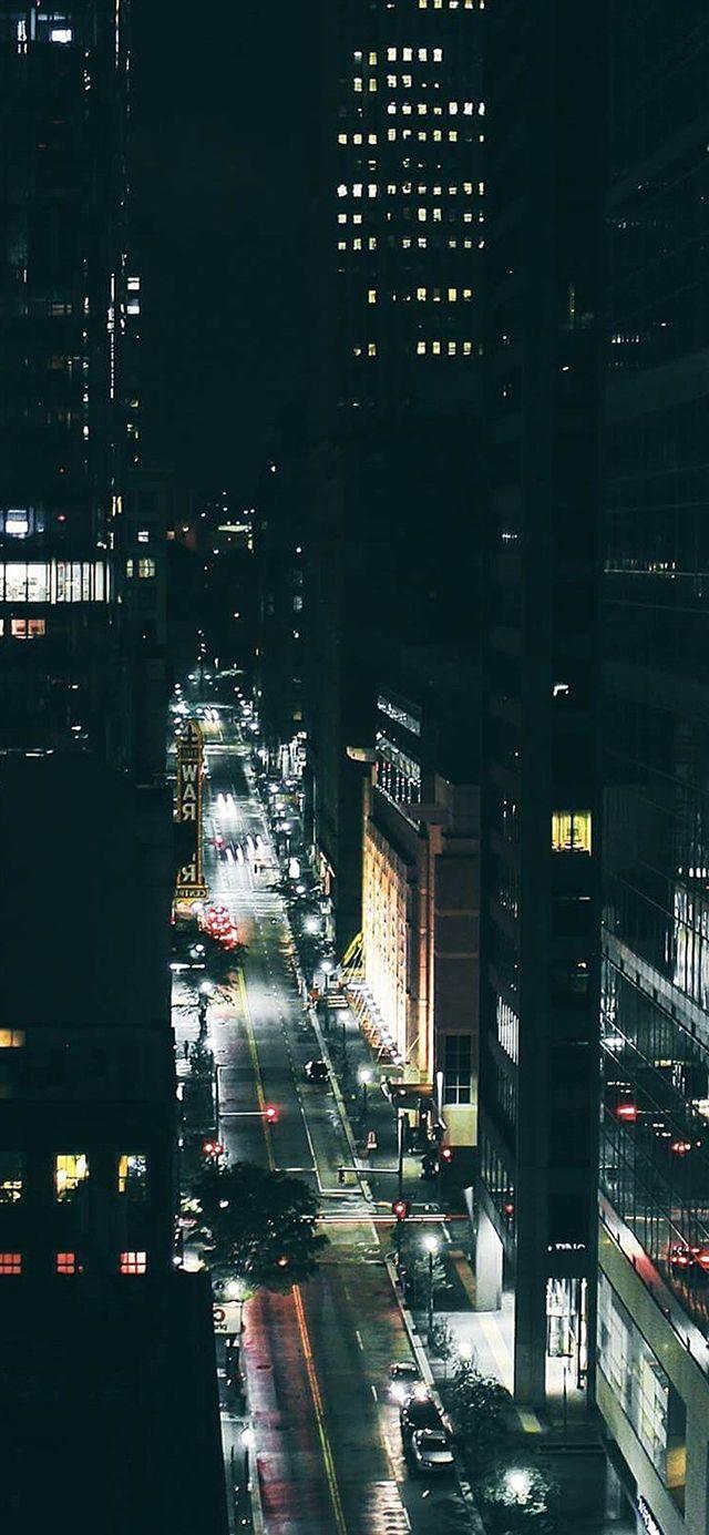 City Night Traffic Dark Iphone X Wallpaper Dark Wallpaper Iphone Dark Nature City Wallpaper
