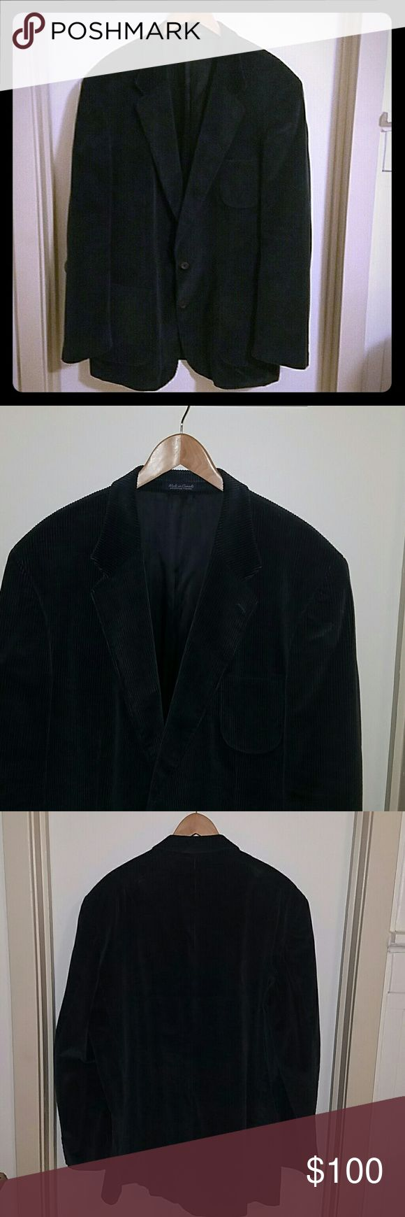 • M € N S•₩ € A R • {Rochester Special Man} Blazer Men's Big & Tall Size XXL || Navy Blue Corduroy Double Breasted Blazer || Satin Lining || NWOT || Open to Offers Rochester Special Man  Jackets & Coats Trench Coats