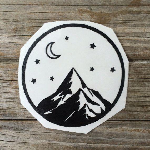Mountain Vinyl Sticker Car stickers Car Decals by meddlemedia