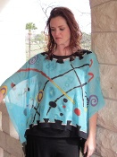 Silk Poncho that is hand painted!