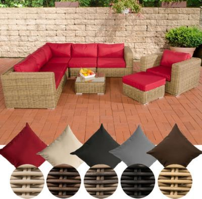poly rattan lounge set ariano 5 mm rund geflecht alu gestell 5er sofa sessel hocker. Black Bedroom Furniture Sets. Home Design Ideas