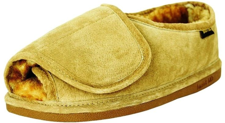 Old Friend Slippers Mens Sheepskin Step-In L 10.5-11.5 Chestnut 421182 #OldFriend #Scuffs