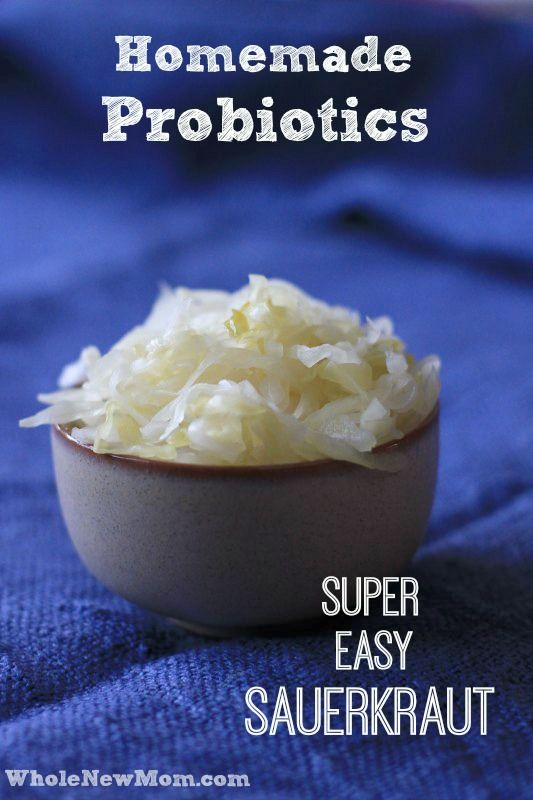 Probiotics are Great for Digestive Health, but they can be pricey. Here is an Easy Homemade Sauerkraut Recipe so you can make your own probiotics at home!