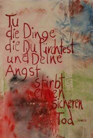 Weiteres - Kalligrafie Tu die Dinge die Du fürchtest - ein Designerstück von romanhollinger bei DaWanda