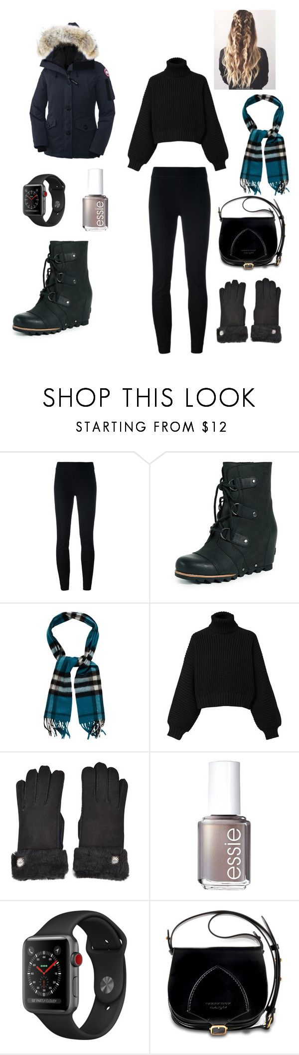 """""""winter wonderland"""" by lindacrea on Polyvore featuring Tory Burch, SOREL, Burberry, Diesel, UGG, Essie and Canada Goose"""