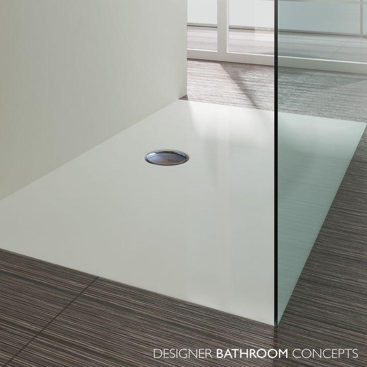 suburb designer flat flush fitting shower tray close up
