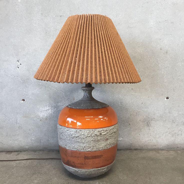 """Mid Century Orange Table Lamp 29"""" x 20"""" x 20"""""""